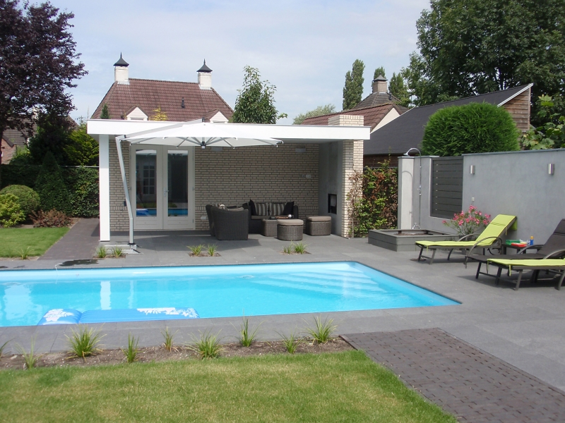 Tuinhuis erp for Zwembad uden